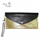 wholesale Wallets: Golden Sparkling Leopard Wallet with lining