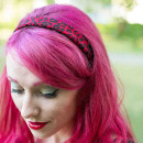 Leopard red headband