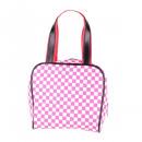 Bowling handbag pink white