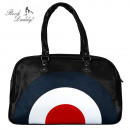 wholesale Travel and Sports Bags: Black retro weekender travel bag