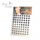 wholesale Jewelry & Watches:Round gala stud earrings