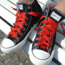 wholesale Shoe Accessories:Red solid colored laces