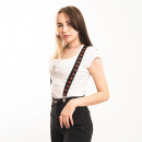 wholesale Belts: Black braces with red star print