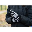 Szövött téli kesztyű csontváz kivitelben
