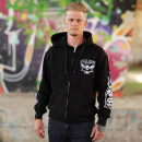Billy Eight Hooded Jacket Unisex Inky Fool Logo L
