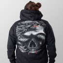 Hoodie jacket Wild Dragon Skull Glows in the dark