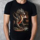 Großhandel Fashion & Accessoires: Wild Glow in the Dark XXL Drachen T-Shirt XXL