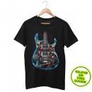wholesale Shirts & Tops: Wild Death Guitar Glow in the Dark T-Shirt L
