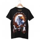 wholesale Shirts & Tops: Wild Motif Shirt Black Pride Eagle M
