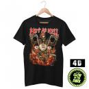 Wild 4D T-Shirt Gorąca jak Hell Biker Skull XL