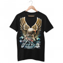 wholesale Fashion & Apparel: Wild Born Free Adler Biker T-Shirt XL