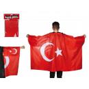 Fan-cape, Turkey Flag, ca. 87 x 150 cm, in the pol