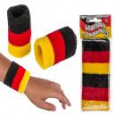 Großhandel Sport & Freizeit: Schweißband,  Deutschlandflagge, ca. 10 x 6 cm, 2 S