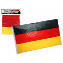wholesale Gifts & Stationery: German flag, car. 150 x 90 cm, in polybag with hea