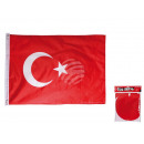 Turkey flag with metal grommets, about 60 x 90 cm,