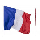 France flag, about 60 x 90 cm, with 100 cm