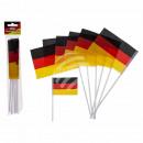 wholesale Gifts & Stationery: Mini-Flag, Germany, ca. 15 x 10 cm, set of 6