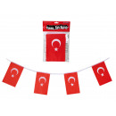 Garland, Turkey Flag, L: 3 m, about 21 flags
