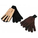 Großhandel Handschuhe:-Damen-Fleece  Handschuhe, 100% Polyester, ca. 49 g,