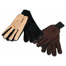 wholesale Shoes: Men fleece gloves,  100 % polyester, ca. 55 g, one