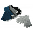 wholesale Shoes: Men gloves, Phone,  100 % polyester, ca. 30 g,  4 c