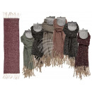 Winter Scarf, Fringes Style, 100% polyester