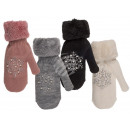 wholesale Gloves: Cuddly mittens, Star, 50% acrylic