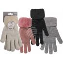 Cuddle gloves, Lurex Style, 50% polyacrylic