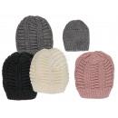 Winter-Mütze, Zopfmuster, 100% Polyacryl