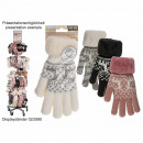 wholesale Gloves: Cuddly gloves, reindeer, 100% acrylic, one-man