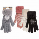 Cuddly gloves, Star, 100% acrylic, unit