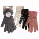 Cuddly Gloves, Solid Color, 100% Acrylic,