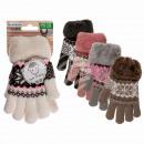 Großhandel Handschuhe:-Kinder-Kuschel Handschuhe, Ice Flower
