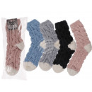 Chaussettes moelleuses, 98% polyester et 2% spande