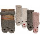 Children's hut socks, Animal Face, 100% acryli