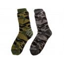 Men's hut socks, Camouflage , 100% polyacrylic