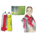 Neon scarf, 100% cotton, ca. 100 g, ca. 170 x 110