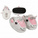 Cuddle Slippers, Unicorn, 100% polyester, size