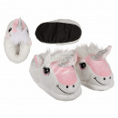 wholesale Fashion & Apparel: Cuddle Slippers,  Unicorn, 100% polyester, size