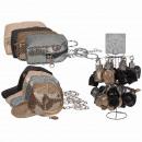 Glitter-Geldbörse, Basecap & Backpack sortiert