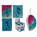 Fashion bag, mermaid, approx. 42 x 34 cm, 3-fa