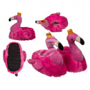Cuddly slippers, flamingo, 100% polyester , size