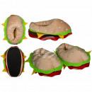 Pantoufles Kuschel, hamburger, 100% polyester
