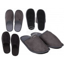 hurtownia Obuwie: Męskie klapki, czarno-szare, 100% poliester