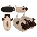 Cuddly Slippers, Pug, 100% polyester