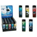 wholesale Lighters: Electric lighter,  Shark Attack, 5 ass., 50 pcs. pe