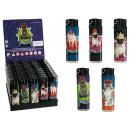 wholesale Lighters: Electric lighter,  Royal Animals, 5 ass., 50 pcs. p