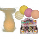 Bubbling bathing ball, Fruity, approx. 180 g