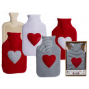 Großhandel Drogerie & Kosmetik: Wärmflasche, Herz, mit 100% Polyesterbezug