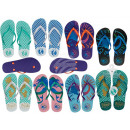 Plastic slippers, mermaid, 8-fold sorti